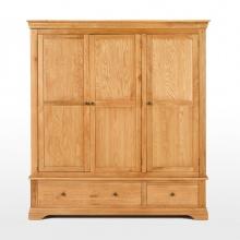 Tủ quần áo Victoria 3 cánh gỗ sồi - IBIE