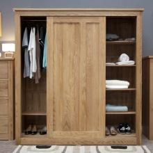 Tủ quần áo cửa lùa Ibie SDR2O gỗ sồi 1m6