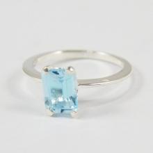 Nhẫn bạc nữ đá Topaz cao cấp Hadosa