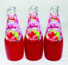 Thùng 24 chai nước Basil seed với vị dâu tây *KHÔNG NGON, CHÚNG TÔI HOÀN TIỀN*