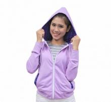 Kisetsu - Áo khoác hoodie nữ tay dài - Lavender