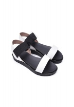Sandal bánh mì trắng đen