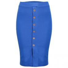 Kisetsu - Váy ôm denim - Blue