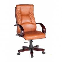 Ghế Giám đốc IB010 2 cần chân gỗ cao cấp màu nâu gỗ
