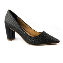 Giày cao gót đen sọc Dolly & Polly