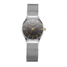 Đồng hồ nữ JULIUS Hàn Quốc dây thép không gỉ JU1129 (đen)