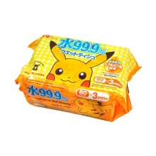 Giấy ướt LEC nước tinh khiết 99,9% Pokemon SS-281 80 tờ x 3 gói