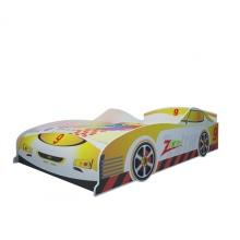 Giường bé trai hình ô tô màu vàng 1m4 - IBIE