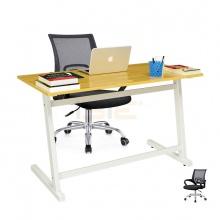 Bộ bàn Rec-Z trắng và ghế IB517 đen - IBIE