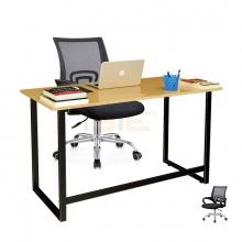 Bộ bàn Oak-F đen và ghế IB517 đen - IBIE