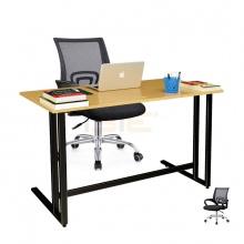 Bộ bàn Oak-U đen và ghế IB517 đen - IBIE