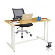 Bộ bàn Oak-U trắng và ghế IB517 đen - IBIE
