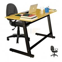 Bộ bàn Rec-Z đen và ghế IB505 có tay đen