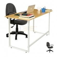 Bộ bàn Oak-F vân sồi và ghế IB505 - IBIE