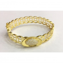 Vòng tay đồng tiền mạ vàng 14k - VONG667