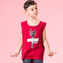 UN03 - Áo thun bé trai (đỏ đô)