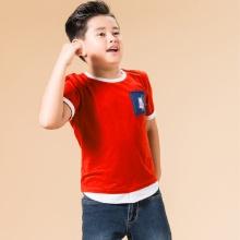UN11- áo thun bé trai (đỏ cam)