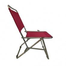 Ghế xếp inox có lưng tựa GXI-L01 44 x 42 x 66 (Đỏ)