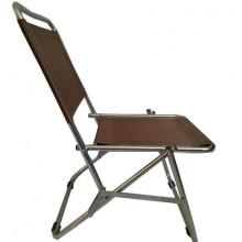 Ghế xếp inox có lưng tựa GXI-L01 44 x 42 x 66 cm (Nâu)