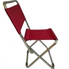 Ghế xếp inox có lưng tựa nhỏ GXI-L03 35 x 30 x 65 cm (Đỏ)