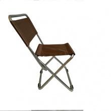 Ghế xếp inox có lưng tựa nhỏ GXI-L03 35 x 30 x 65 cm (Nâu)