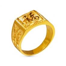 Nhẫn nam bạc mạ vàng 24k - NNAM360