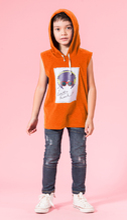 UN10 - Áo thun bé trai có nón (cam)