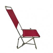 Ghế xếp inox có lưng tựa cao GXI-L02 44 x 42 x 86 cm (đỏ)