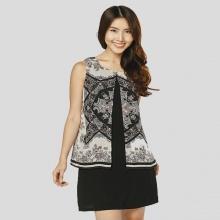 Đầm suông cách điệu HK 554 - Hoàng Khanh