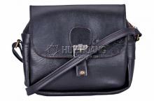 Túi xách Huy Hoàng 1 khóa màu đen HV6103