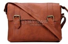 Túi xách Huy Hoàng 2 viền dọc màu bò đậm HV6110