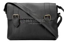 Túi xách Huy Hoàng 2 viền dọc màu đen HV6111