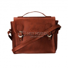 Túi xách hộp vuông Huy Hoàng màu bò đậm HV6134