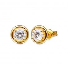 Bông tai đá kim cương nhân tạo mạ vàng 14k - BT557