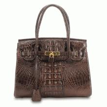 Túi xách nữ da cá sấu Huy Hoàng cao cấp màu nâu đất  HV6217