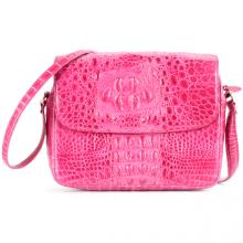 Túi xách da cá sấu Huy Hoàng hộp vuông màu hồng HV6206