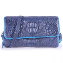 Túi xách nữ da cá sấu Huy Hoàng đeo chéo màu xanh đậm HV6265