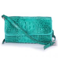 Túi xách nữ da cá sấu Huy Hoàng đeo chéo màu xanh ngọc HV6264