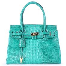 Túi xách nữ da cá sấu Huy Hoàng cao cấp màu xanh lá HV6224