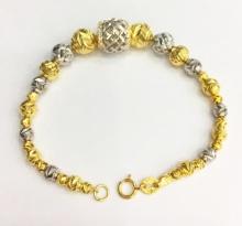 Lắc tay bạc ý mạ vàng 18k Tài Như - LAC510