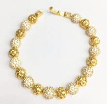 Lắc tay bạc ý mạ vàng 18k Tài Như - LAC502