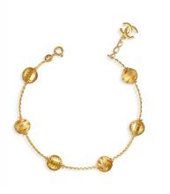 Lắc tay bạc ý mạ vàng 14k Tài Như - LAC451