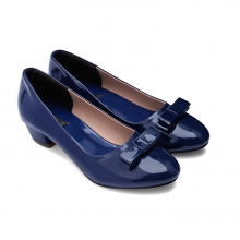 Giày nữ Huy Hoàng đế 3cm màu xanh dương HV7008