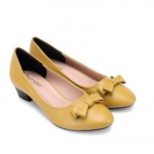 Giày nữ Huy Hoàng đế 3cm màu vàng HV7010