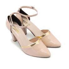 Giày nữ Huy Hoàng đế 7cm màu kem HV7019