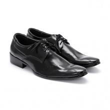 Giày tây nam Huy Hoàng màu đen HV7102