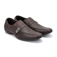 Giày da nam Huy Hoàng màu nâu HV7111