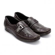 Giày mọi nam Huy Hoàng màu nâu đen HV7114