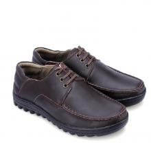 Giày thời trang Huy Hoàng có dây màu nâu HV7121