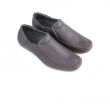 Giày nam Huy Hoàng màu nâu đan HV7122